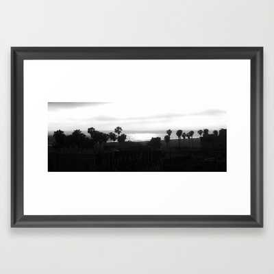 "Venice Beach Art Print - 21"" x 15"" - Scoop Black Frame - Society6"