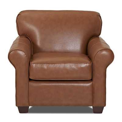 Jennifer Leather Arm Chairby Wayfair Custom Upholstery - Wayfair