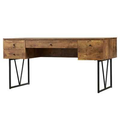 Granite 4 Drawer Writing Desk - Wayfair