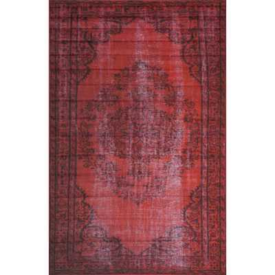Remade Distressed Overdyed Red Area Rug - AllModern