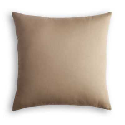 "SIMPLE THROW PILLOW- 18"" x 18""- Tan & red- Poly insert - Loom Decor"