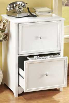 OXFORD FILE CABINET - White; Two-drawer - Home Decorators
