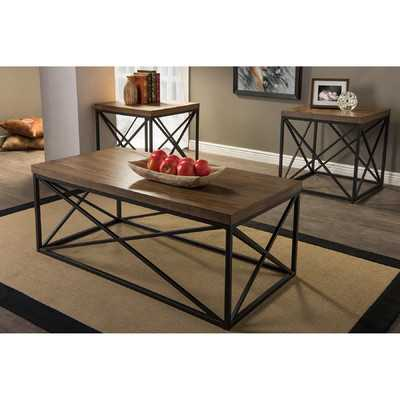 Baxton Studio 3 Piece Coffee Table Set - Wayfair