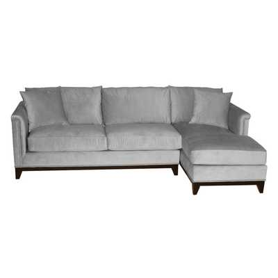 La Brea Studded 2pc Sectional - Stone, Chaise on Right - Apt2B