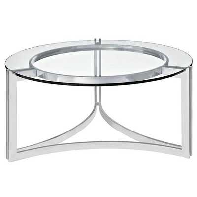 Signet Stainless Steel Coffee Table - Domino