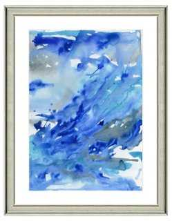 "Watercolor Abstract Print III- 22""L x 26""H- Framed (Silver) - One Kings Lane"