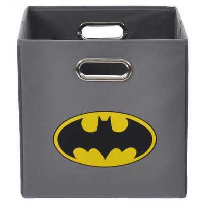 Batman Logo Grey Folding Storage Bin - Overstock