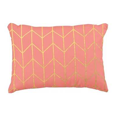 "Modern Chic Decorative Pillow - 12"" x 16"" - Insert Included - zazzle.com"