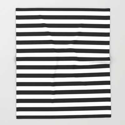 "Modern Black White Stripes Monochrome Pattern - 51"" x 60"" - Society6"
