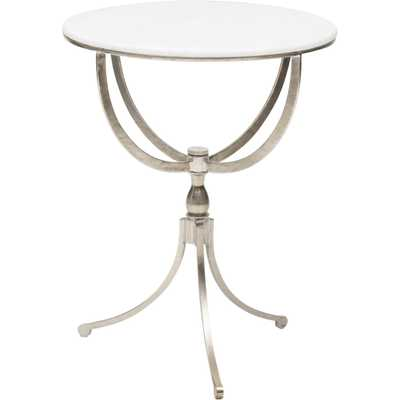 Art Deco Nickel Round Table - High Fashion Home