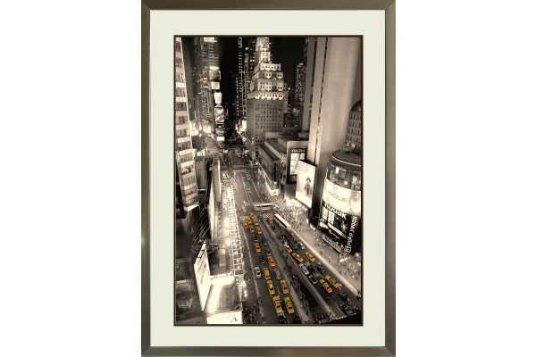Time Square Modern Art - 23x31 - Framed - Modani