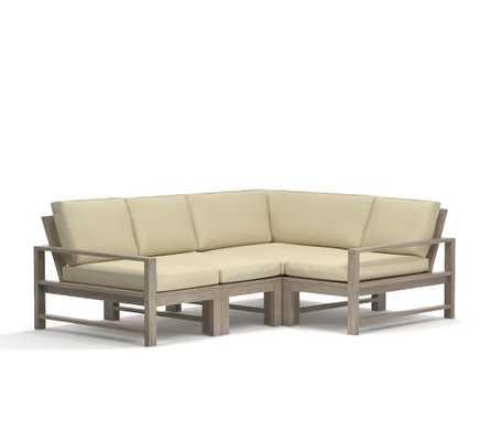 Indio Sectional Set-Sectional Frame - 4-Piece - Pottery Barn