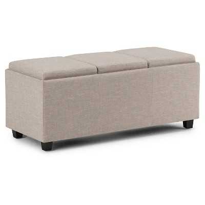 Avalon Storage Ottoman with 3 Serving Trays - Target