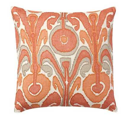 """KENMARE IKAT EMBROIDERED ORANGE PILLOW COVER - 24"""" square - Insert sold separately - Pottery Barn"""