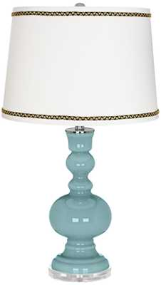 Raindrop Apothecary Table Lamp with Ric-Rac Trim - Lamps Plus