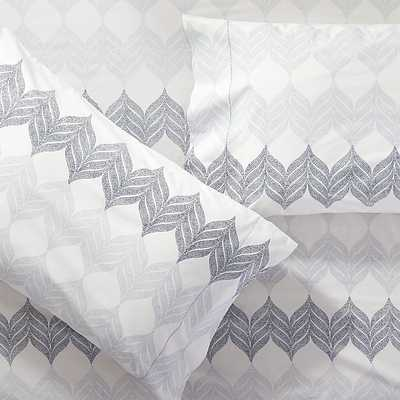 Set of 2 Sheesha Leaf Standard Pillow Cases - King - Crate and Barrel