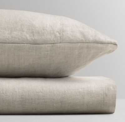 Washed organic linen crib fitted sheet - RH Baby & Child