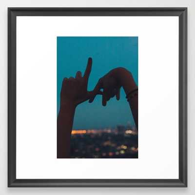 """Hands over Los Angeles - FRAMED ART PRINT/ SCOOP BLACK MEDIUM (GALLERY) (22"""" X 22"""") - Society6"""