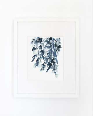 "Wisteria in Indigo- Watercolor Art Print- 16""x20""- Framed - Etsy"