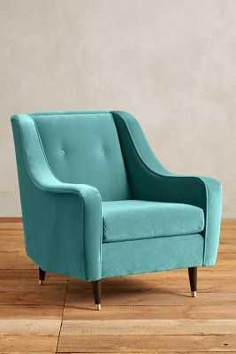 Velvet Adrie Chair - Teal - Anthropologie