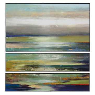 Evening Tide - Set of  3 - Unframed-No Mat - Z Gallerie