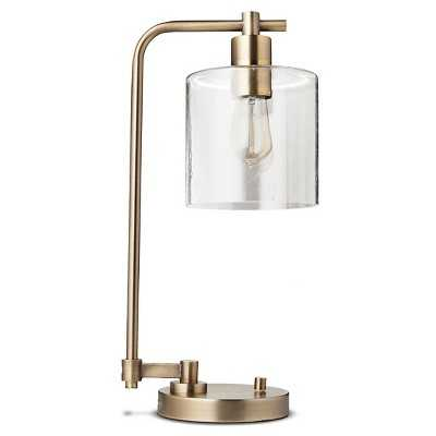 "Hudson Industrial Desk Lamp - Antique Brass (Includes CFL Bulb) - Thresholdâ""¢ - Target"