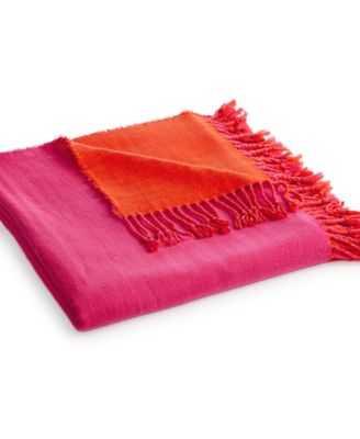 Kate spade new york Colorblock Throw - Pink/Maraschino - Macys