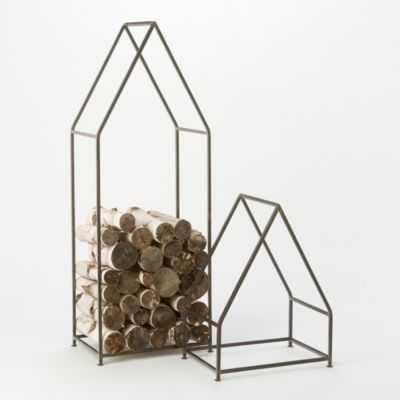 Iron Cabin Log Holder-Large - shopterrain.com