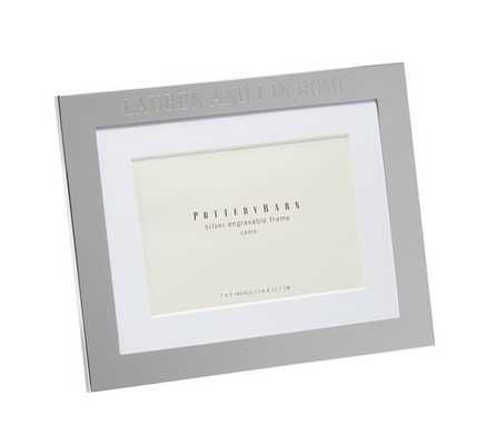"""Silver-Plated Engravable Frames, 5 x 7"""" - Pottery Barn"""