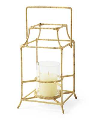 Cove Rattan Lantern - Medium - Serena and Lily