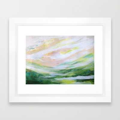 """FRAMED ART PRINT/ VECTOR WHITE MINI (12"""" X 10"""") - Society6"""