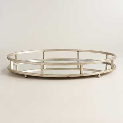 Silver Mirrored Round Serving Tray - World Market/Cost Plus