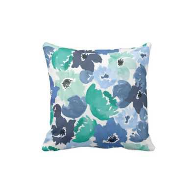 """Pillow Cover - Navy Poppy-20"""" L X 20"""" W- Insert not included - Domino"""