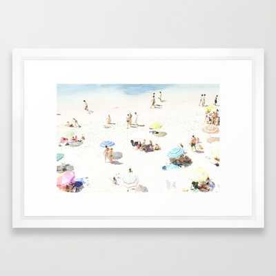 Beach 21x15 framed - Society6