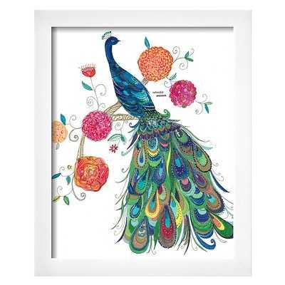 Art.com - Splendid Peacock by Kim Anderson- 19.000 H x 16.000 W x 1.000 D- Framed - Target