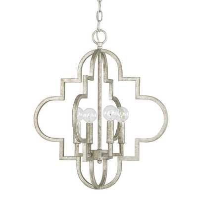 Aldridge 4 Light Pendant - Antique Silver - Wayfair