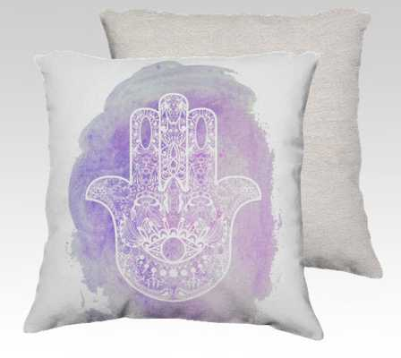 "Purple Hamsa Hand Stuffed Pillow - 18"" x 18"" - No Insert - Etsy"