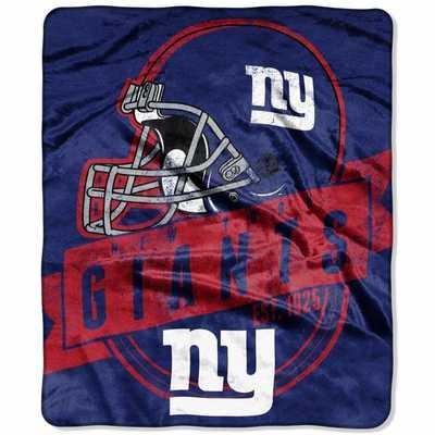 "New York Giants 50"" x 60"" Grand Stand Plush Blanket - NFL Shop"