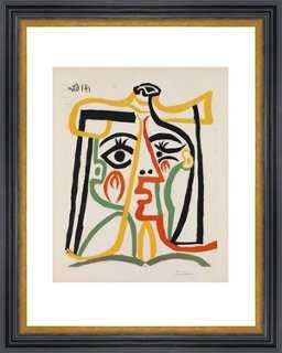 """Picasso, Tête de Femme, 1962 26"""" x 30"""" framed - One Kings Lane"""