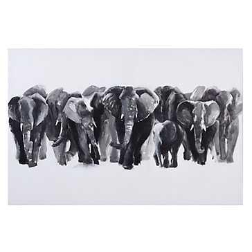 Gigantic Elephants - 60''W x 40''H - Unframed - Z Gallerie