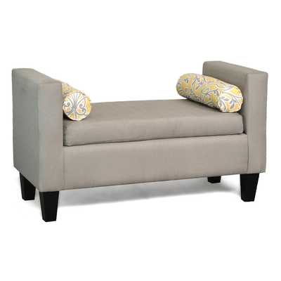 Amelia Upholstered Bench - Crawford Putty - Wayfair