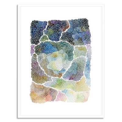 """Freckle Topography - 18""""X 22"""" - White Frame - West Elm"""