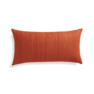 "Michaela Orange 24""x12"" Pillow with Down-Alternative Insert - Crate and Barrel"