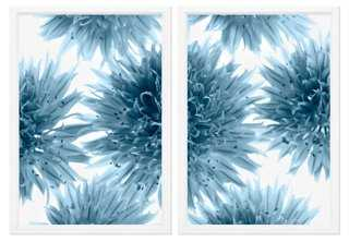 """Chive Flowers Diptych - Set of 2 - 36"""" x 25"""" - Framed - One Kings Lane"""