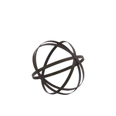"Metal Orb Dyson Sphere Design Decor Grey (5 circles) - 8"" H - Wayfair"