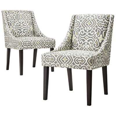 Griffin Cutback Dining Chair - Gray, Citron (Set of 2) - Target