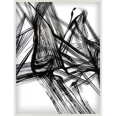 "BLACK RIVER 4 BY RON SANTOS FRAMED GRAPHIC ART -34""x44"" - Dwell Studio"