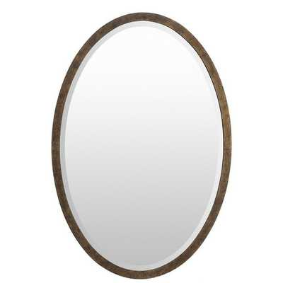 Barnet Wood Framed Small Size Oval Wall Mirror - Overstock