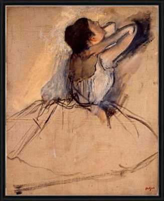 """Ballet dancer by Edgar Degas, pastel, circa 1874-18""""x22""""-Framed - Photos.com by Getty Images"""