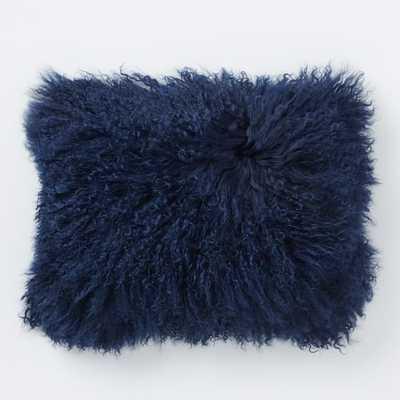 """Mongolian Lamb Pillow Cover - 12"""" x 16"""", no insert - West Elm"""